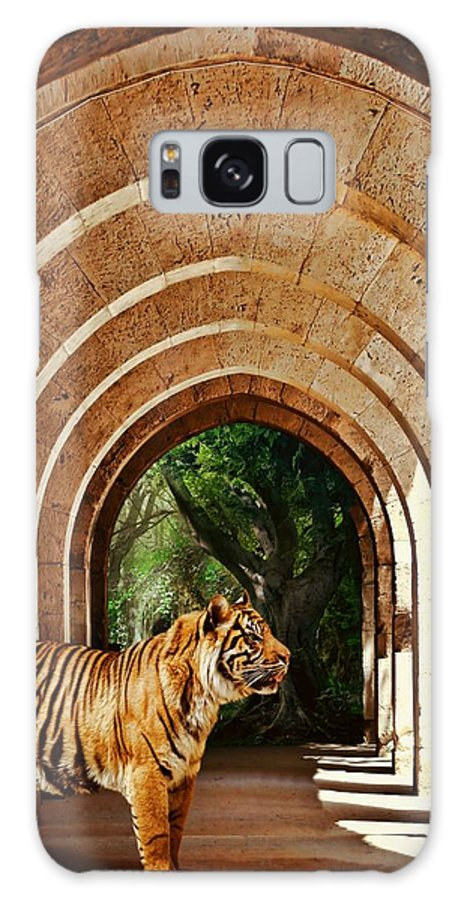 Tiger Galaxy S8 Case featuring the photograph She Waits.... by Sharon Lisa Clarke