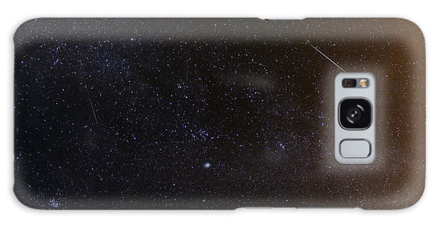 Milky Way Galaxy S8 Case featuring the photograph Shooting Stars And A Comet by Laurent Laveder
