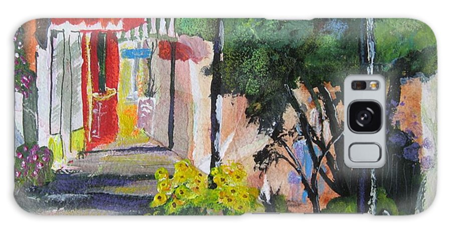 Shopping Galaxy S8 Case featuring the painting Shopping In Basalt by Melody Horton Karandjeff