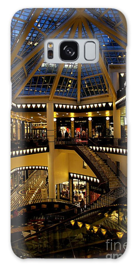Shopping Mall Galaxy S8 Case featuring the photograph Shopping Mall In The Evening by Christiane Schulze Art And Photography