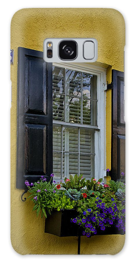 Sandra Anderson Galaxy S8 Case featuring the photograph Shutters And Window Boxes by Sandra Anderson