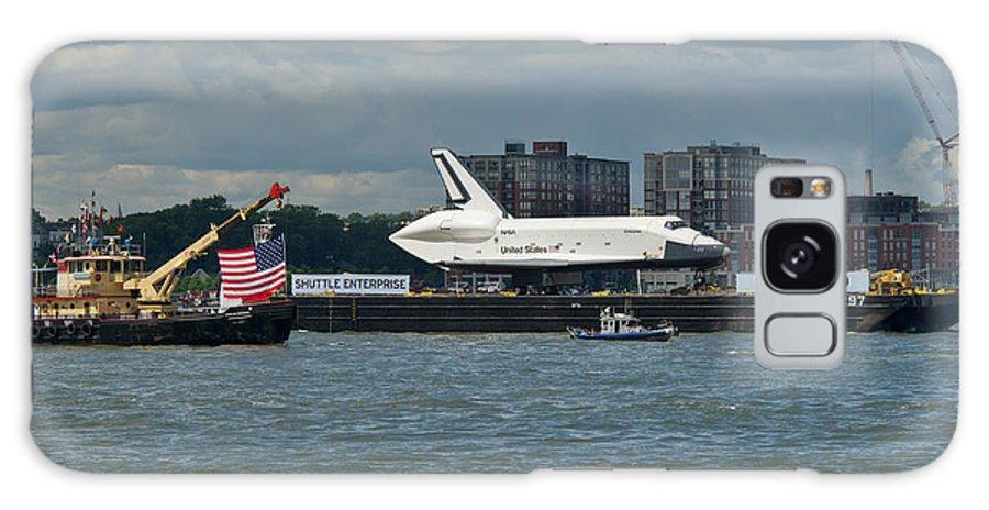 Space Shuttle Galaxy S8 Case featuring the photograph Shuttle Enterprise Flag Escort by Gary Eason