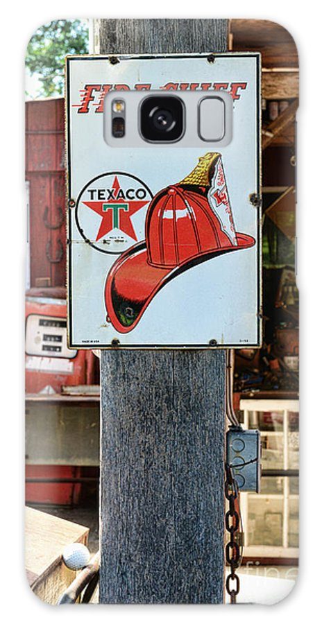 Gas Station Signs Galaxy S8 Case featuring the photograph Sign - Fire Chief Gasoline by Paul Ward