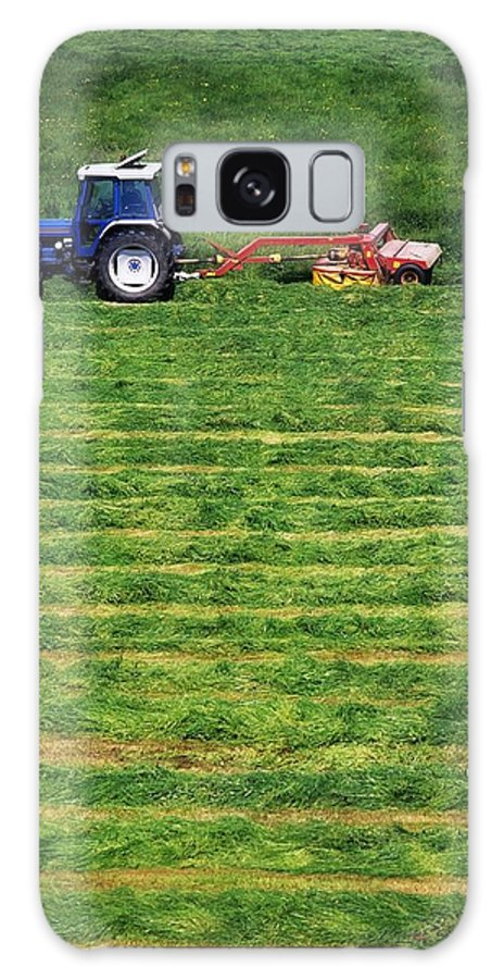 Animal Feed Galaxy S8 Case featuring the photograph Silage Making, Ireland by The Irish Image Collection