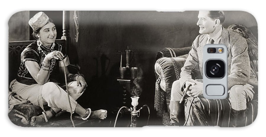 -smoking- Galaxy S8 Case featuring the photograph Silent Film Still: Smoking by Granger