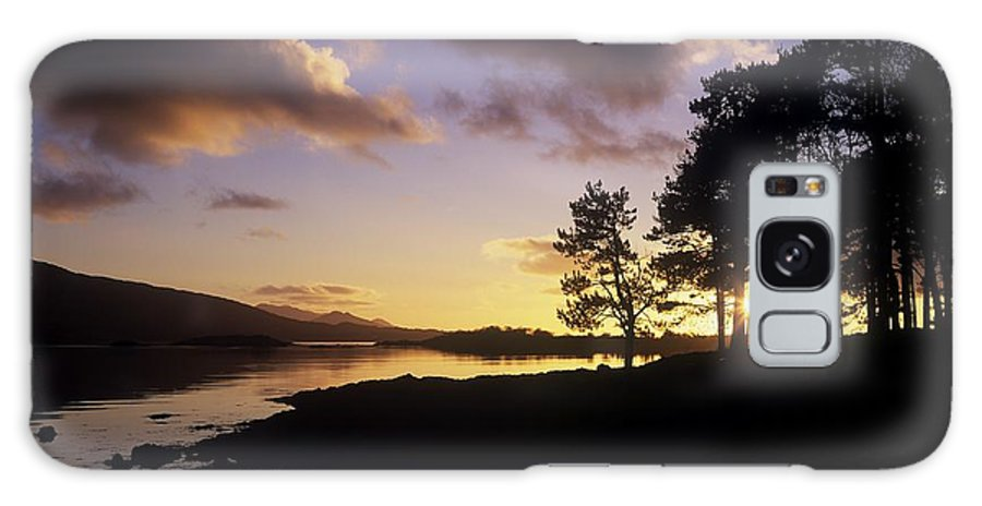 Bays Galaxy S8 Case featuring the photograph Silhouette Of Trees On The Riverbank by The Irish Image Collection