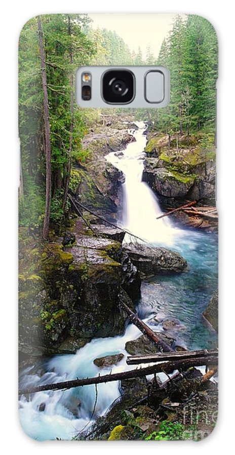 Water Galaxy S8 Case featuring the photograph Silver Falls Full View by Jeff Swan