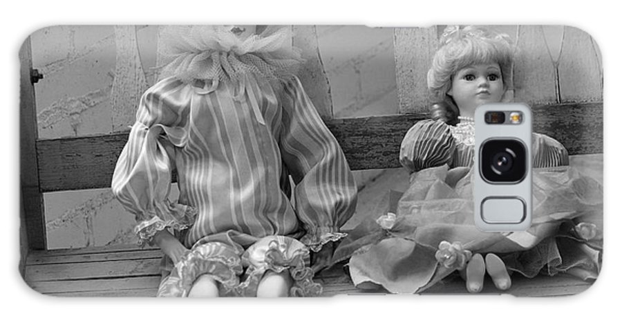 Doll Galaxy S8 Case featuring the photograph Sitting Pretty In Black And White by Suzanne Gaff