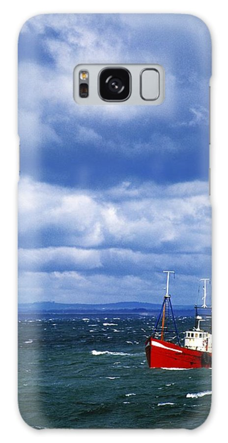 Cloud Galaxy S8 Case featuring the photograph Skerries, Co Dublin, Ireland Trawler by The Irish Image Collection