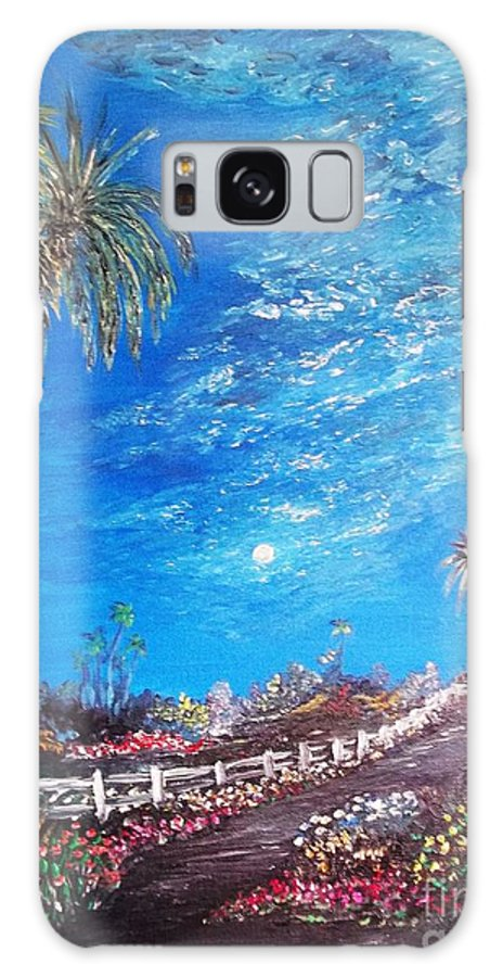 Oil Galaxy S8 Case featuring the painting Sky So Blue by Rhonda Lee