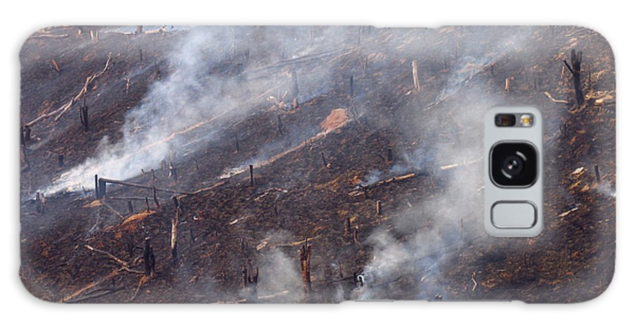Smoke Galaxy S8 Case featuring the photograph Slash And Burn Agriculture by Bjorn Svensson