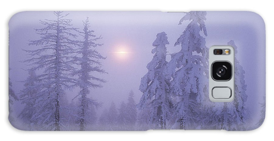 Twilight Galaxy S8 Case featuring the photograph Snow Blankets Trees On Diamond Peak by Phil Schermeister