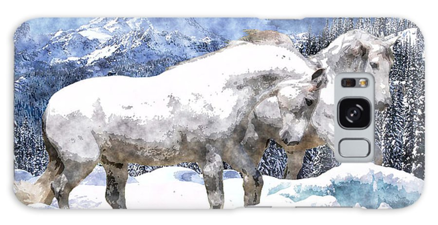Horse Galaxy S8 Case featuring the photograph Snow Play by Vicki Podesta