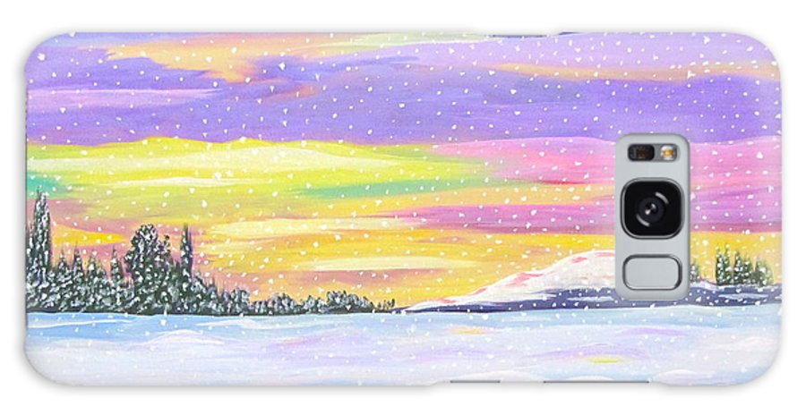 Beautiful Sky Galaxy S8 Case featuring the painting Snow Storm by Phyllis Kaltenbach