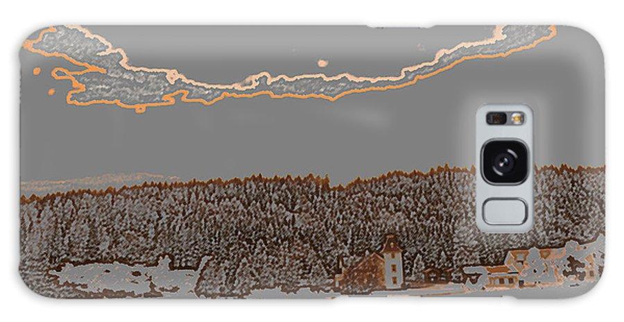 Augusta Stylianou Galaxy S8 Case featuring the digital art Snowy Landscape by Augusta Stylianou