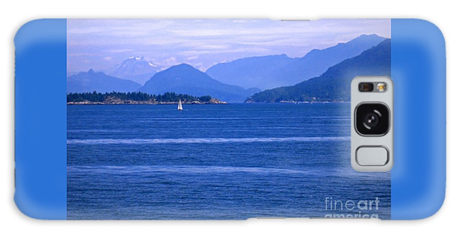 Sailboat Galaxy Case featuring the photograph Solitary Sailing by Ann Horn