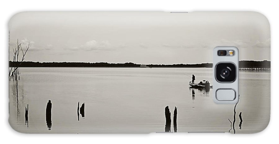 Solitude Fishing Manasquan Reservoir Galaxy S8 Case featuring the photograph Solitude Fishing Manasquan Reservoir by Terry DeLuco