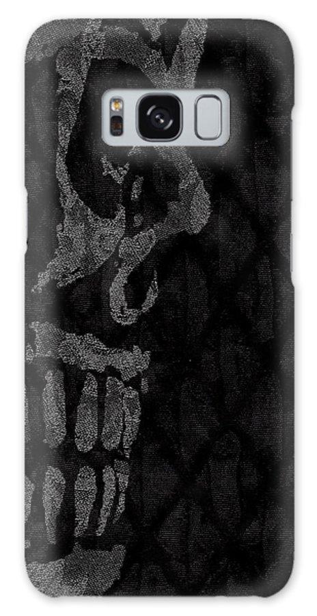 Skull Galaxy S8 Case featuring the digital art Sombre Skull by Roseanne Jones