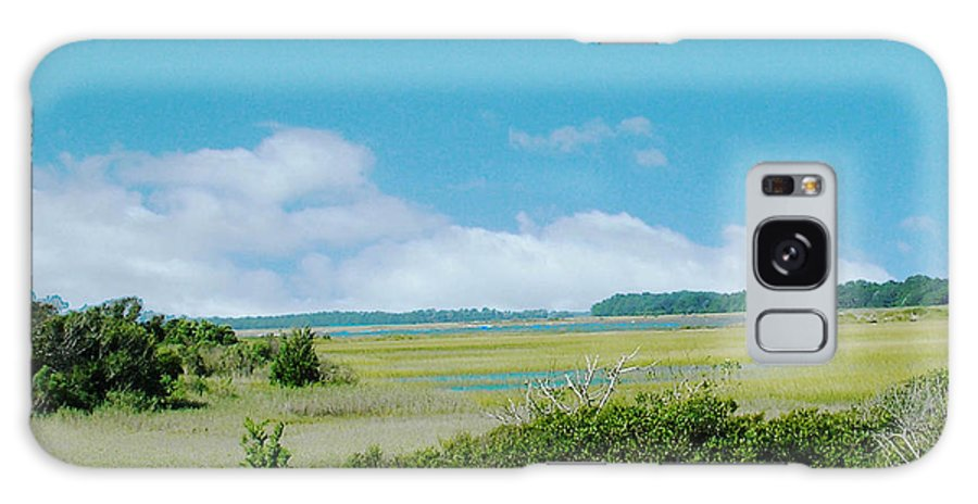 Marsh Galaxy S8 Case featuring the digital art South Carolina Coastal Marsh by Lizi Beard-Ward