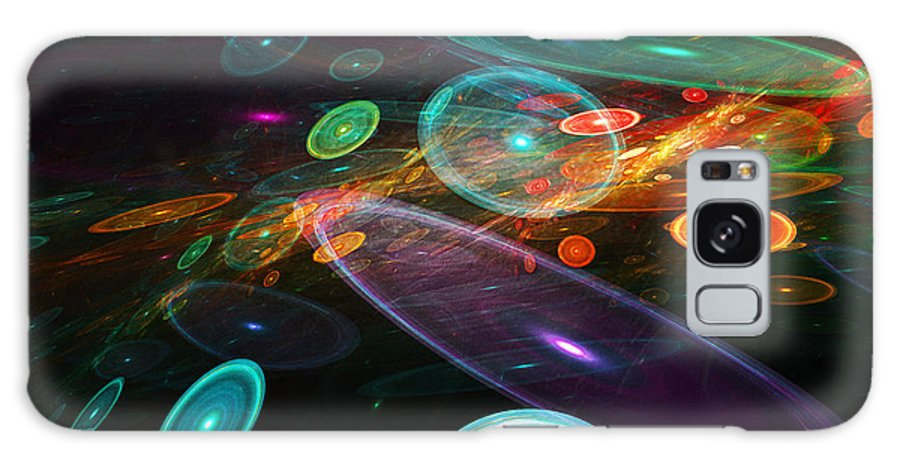 Abstract Galaxy S8 Case featuring the digital art Space Travel In 2112 by Andee Design