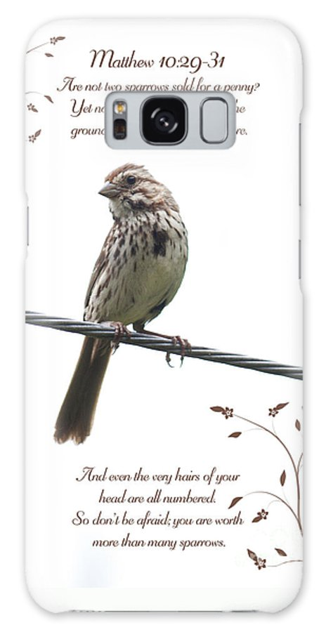 Sparrow Galaxy S8 Case featuring the photograph Sparrow by Lena Auxier