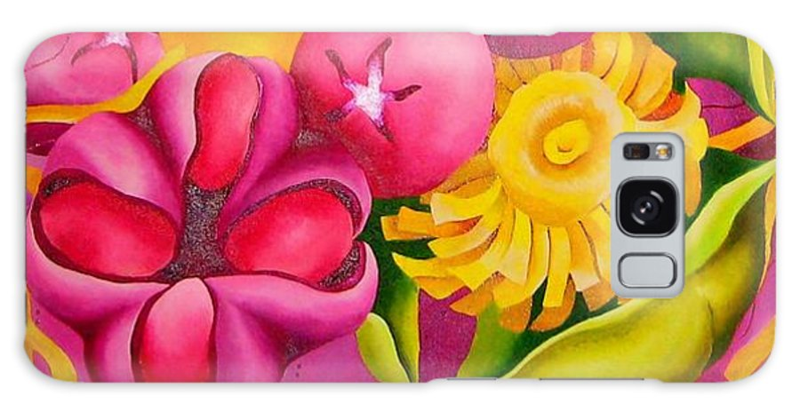 Spatterdock Flower Galaxy S8 Case featuring the painting Spatterdock - Panel 3 Of 3 by Elizabeth Elequin