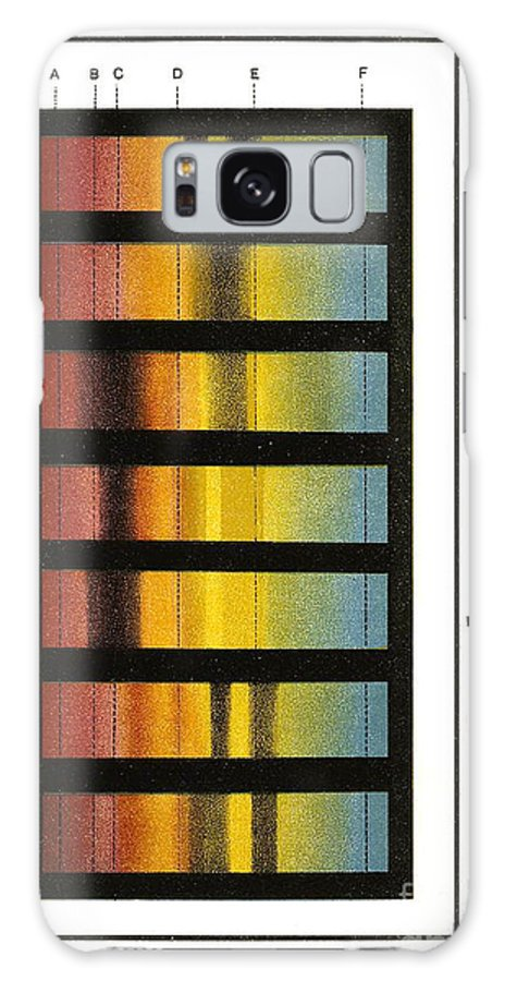 Science Galaxy S8 Case featuring the photograph Spectra Chart, Blood Samples, 1894 by Science Source