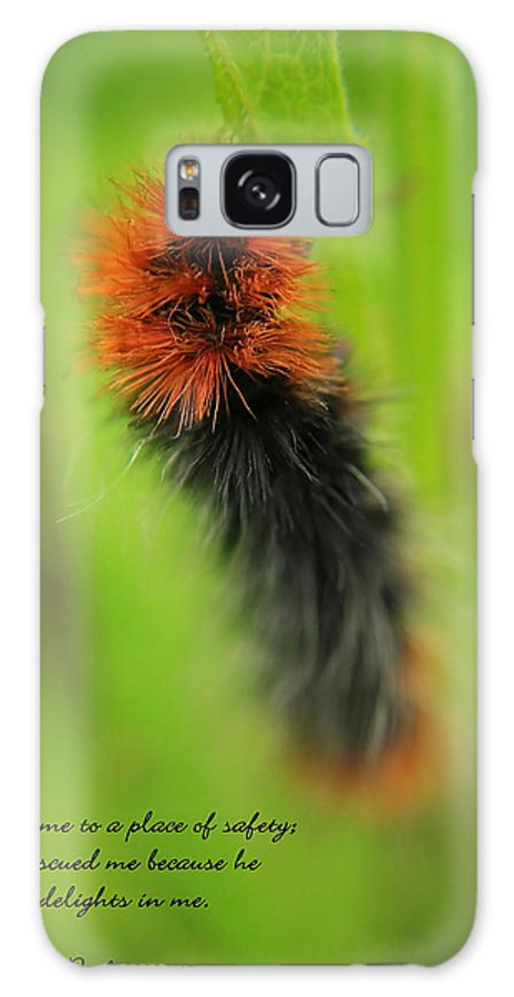 Caterpillar Galaxy S8 Case featuring the photograph Spring Caterpillar by Tyra OBryant