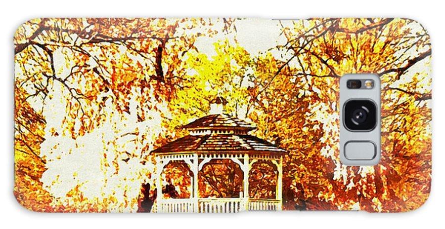 Gazebo Spring Japanese Gardens Philadelphia Fairmount Park Galaxy S8 Case featuring the photograph Spring Gazebo by Alice Gipson
