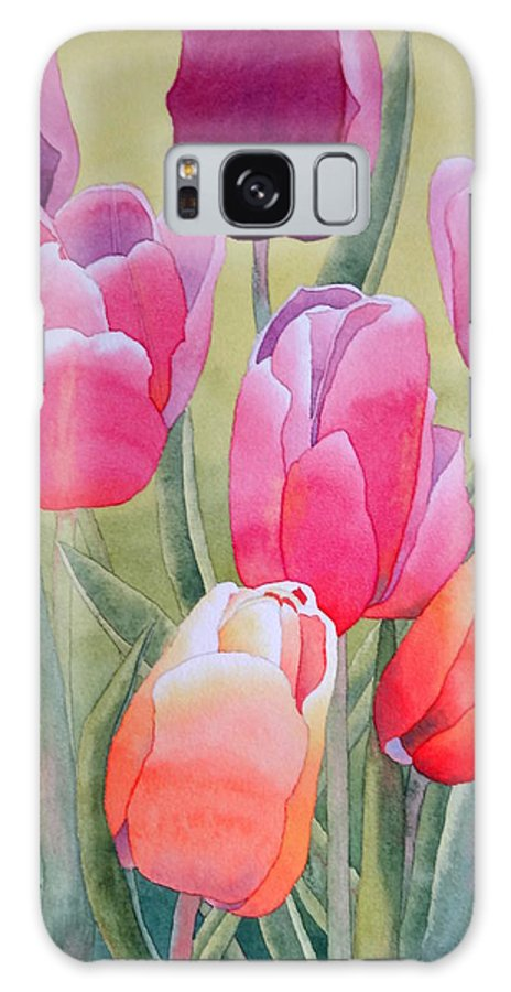 Tulips Galaxy S8 Case featuring the painting Spring by Laurel Best