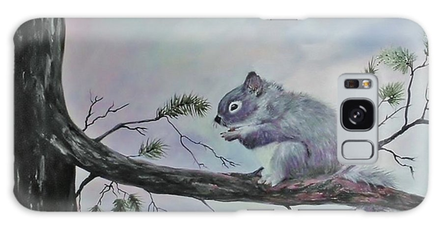 Squirrel Galaxy S8 Case featuring the painting Squirrel by Peggy Miller