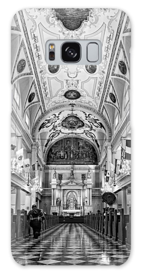 French Quarter Galaxy S8 Case featuring the photograph St. Louis Cathedral Monochrome by Steve Harrington