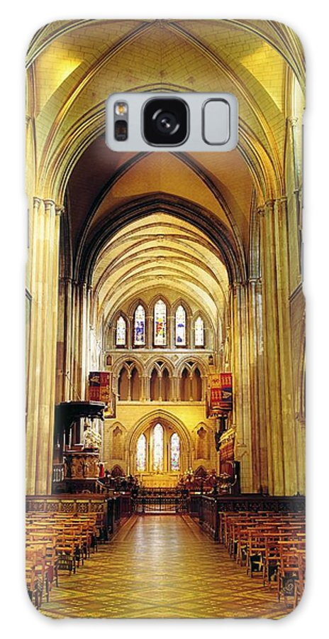 Architectural Interiors Galaxy S8 Case featuring the photograph St. Patricks Cathedral, Dublin, Ireland by The Irish Image Collection