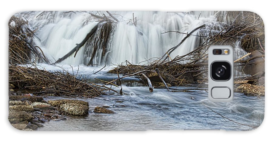 Waterfall Galaxy S8 Case featuring the photograph St Vrain River Waterfall Slow Flow by James BO Insogna