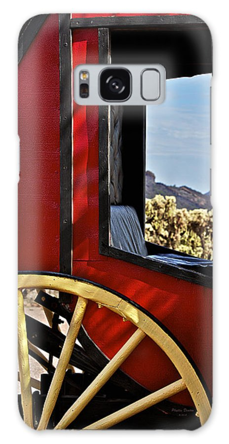 Stagecoach Galaxy S8 Case featuring the photograph Stagecoach View by Phyllis Denton