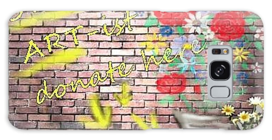 Graffiti Galaxy S8 Case featuring the digital art Star Art Starving Artist by Rhonda Lee