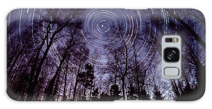 Star Trails Galaxy S8 Case featuring the photograph Star Trails by Pekka Parviainen