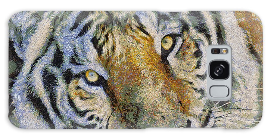 Starry Galaxy S8 Case featuring the photograph Starry Tiger by Nicholas Evans