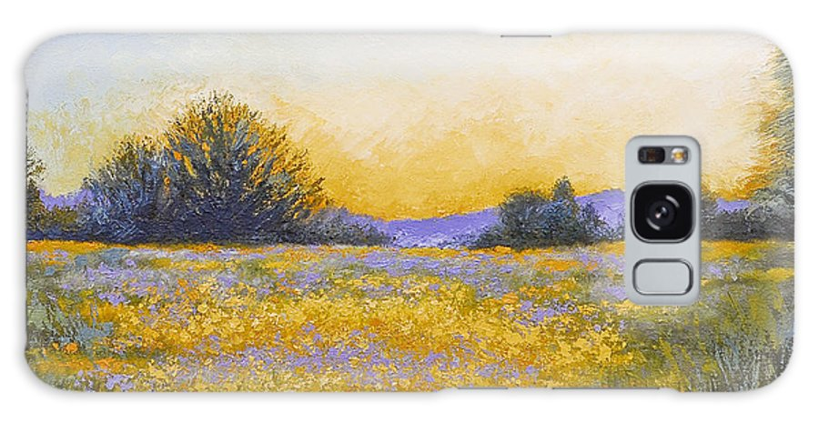 Field Of Flowers Galaxy S8 Case featuring the painting State Of Grace by Katherine Tucker