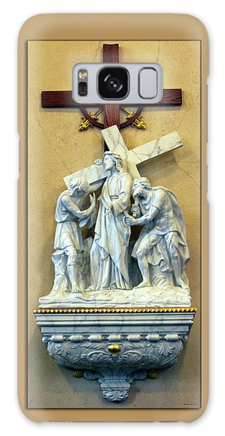 Statue Galaxy S8 Case featuring the digital art Station Of The Cross 02 by Thomas Woolworth