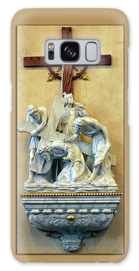 Statue Galaxy S8 Case featuring the photograph Station Of The Cross 03 by Thomas Woolworth