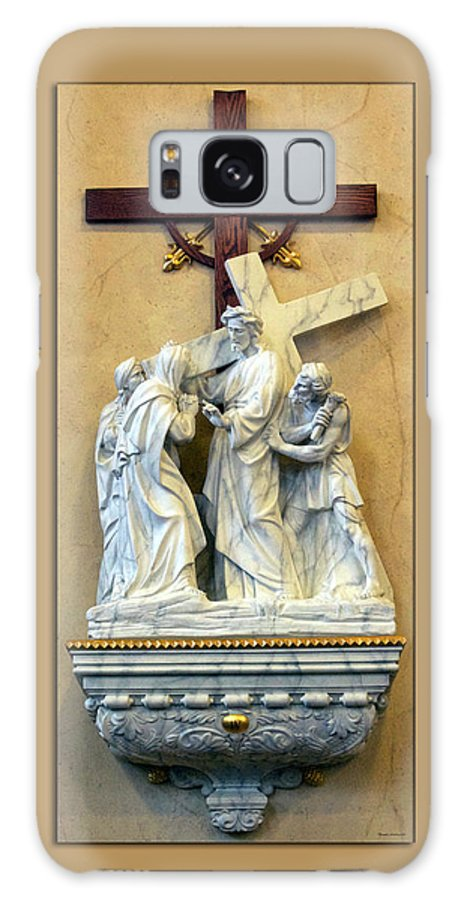Statue Galaxy S8 Case featuring the photograph Station Of The Cross 04 by Thomas Woolworth