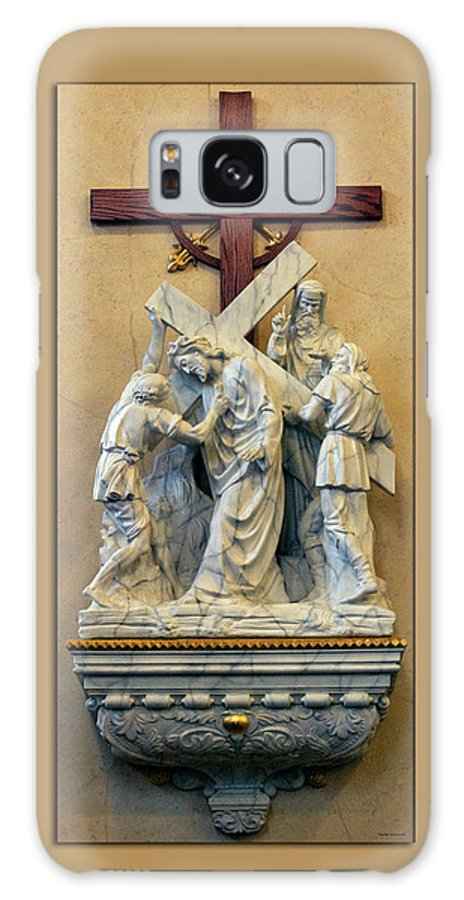 Statue Galaxy S8 Case featuring the photograph Station Of The Cross 05 by Thomas Woolworth