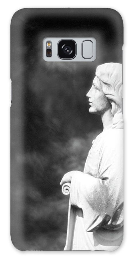 Statue Galaxy S8 Case featuring the photograph Statue 06 Black And White by Thomas Woolworth
