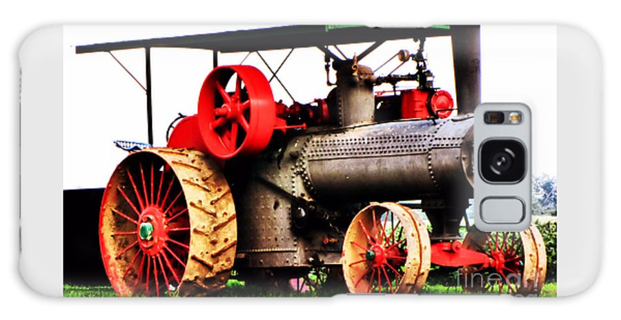 Oil Galaxy S8 Case featuring the photograph Steam Engine Tractor by September Stone