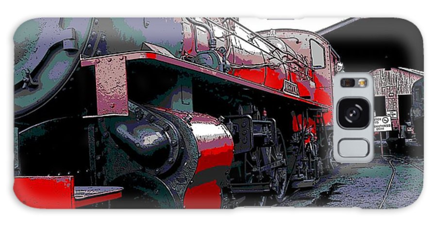Steam Power Galaxy S8 Case featuring the photograph Steam Punk Railroad by George Pedro