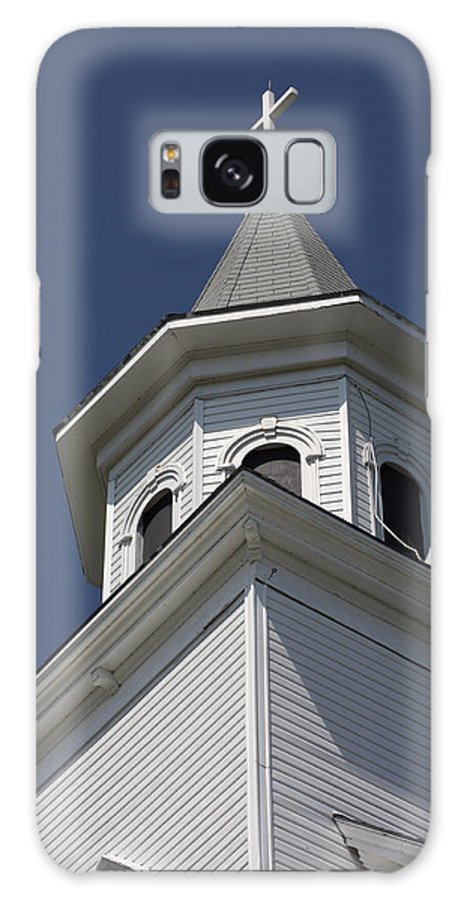 Church Galaxy S8 Case featuring the photograph Steeple Top by Robin Regan