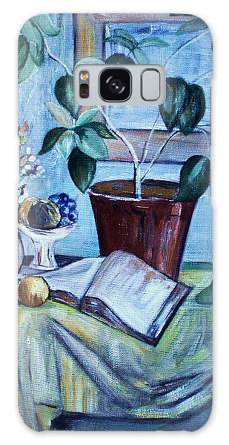 Still Life Galaxy S8 Case featuring the painting Still Life by Camelia Apostol