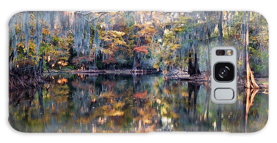 Bayou Galaxy S8 Case featuring the photograph Still Waters - Autumn Reflections by Lana Trussell