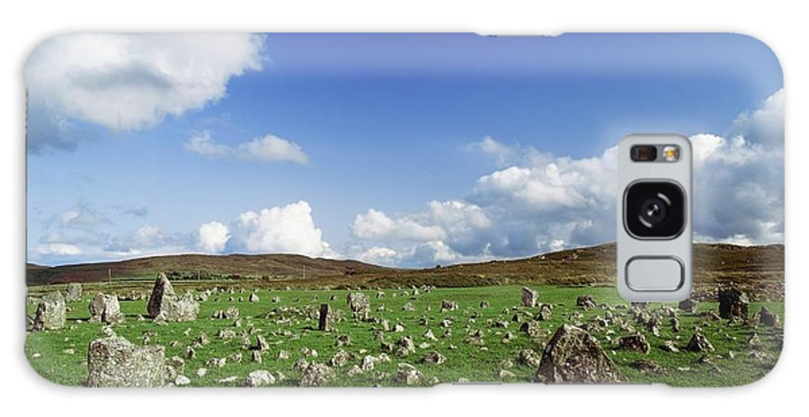 Ancient Civilization Galaxy S8 Case featuring the photograph Stone Circles On A Landscape, Beaghmore by The Irish Image Collection